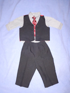Dockers Baby Boy Holiday Christmas 4pc Suit Size 12mts EUC