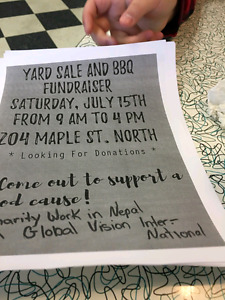 Charity yard sale bbq 204 maple North