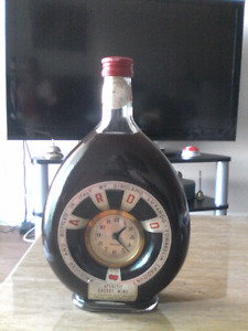Original 1960's Girolamo Luxardo Italian Cherry Wine with Clock