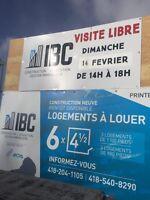 4½ neuf à louer à Pintendre(Lévis) Visite libre 14 fev 14h à 18h