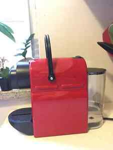 Nespresso Inissia Coffee maker. Barely used. Red.