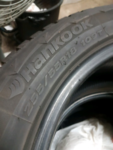 Hankook pike pw11 255/55r18 winter tires