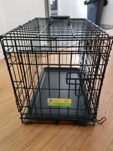Cage à deux portes pour chien 23x14x16 pouces