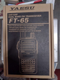 Yaesu FT-65E Dual band FM VHF UHF dual band handheld
