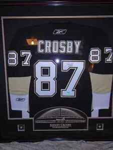 Sidney Crosby Autographed Frameworth Jersey Autograph C.O.A