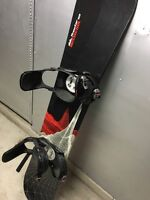 Rossignol snowboard with boots