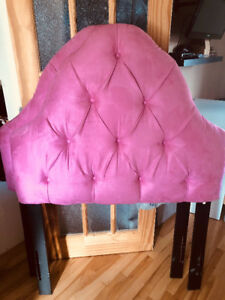 Two matching tufted single headboards