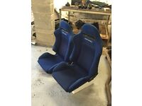 Blue Dc5 recaro seats