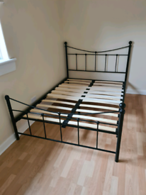 Used Black Metal Double Bed Frame