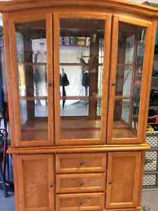 Golden Oak China Cabinet