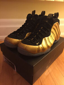 Nike Basketball – Air Penny Foamposite Gold