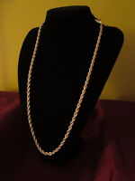 9K Gold Filled Thick and Heavy Rope Chain