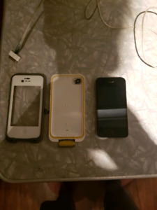 Unlocked iPhone 4s with a life proof case great shape