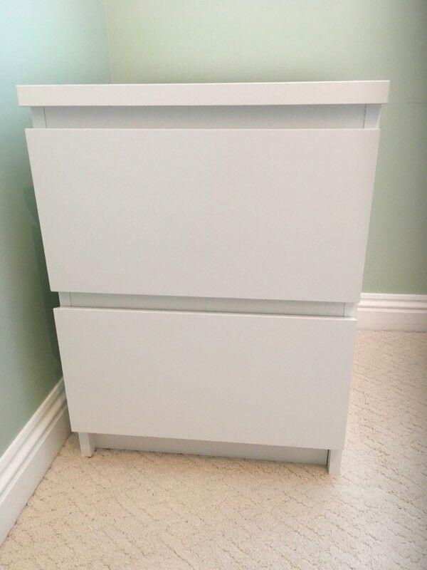 Ikea white bedside cabinet