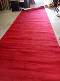 Large red rug/ runner with binded edges (free delivery)
