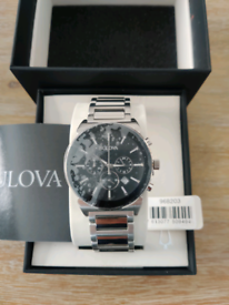 Mens Bulova Dress Chronograph Watch 96B203 RRP£249
