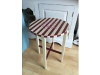 SMALL SHABBY CHIC STYLE DROP LEAF TABLE
