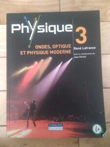 Physique 3 Ondes, optique et physique moderne René Lafrance 2015