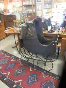 Antique Wooden Baby Buggy