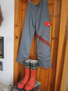Chainsaw Boots and Chainsaw Pants, $50. each