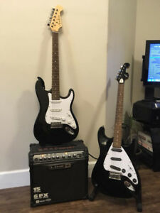 2 Electric Guitars and Amp