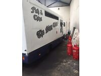 Fish and chip van with run East Ayrshire (snack bar . Business )