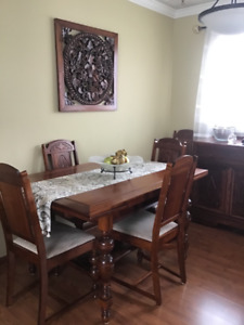 Early 1900's solid mahogany 3 piece antique Dining Room set