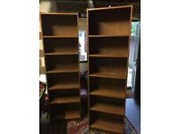 Two wooden bookcases