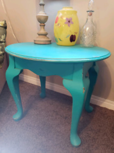 Funky Distressed End Table