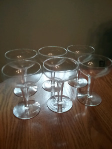 3 sets of Glasses -Wine/Champagne/Brandy