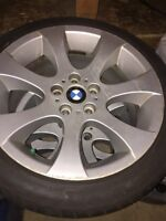 "18"" BMW rims and tires 225/45R18"