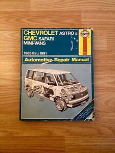 Chevrolet Astro & GMC Safari Manual