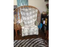 Sage green retro style chairs