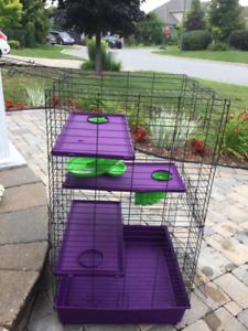 Cage pour furets ou rongeurs