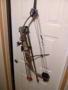 Camo compound bow Browning