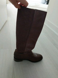 Cole Haan - New Leather Suede Boots - Brown - Size 5 -  $30