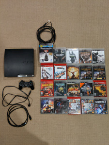 PS3 Slim 160GB and Games for Sale
