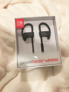 BRAND NEW MATTE BLACK POWERBEATS3 WIRELESS