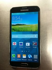 Telus Samsung Galaxy S5, Black / Gray Back Good Condition