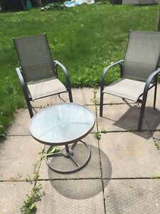 Patio chairs and tables. Many to choose from. Good condition.