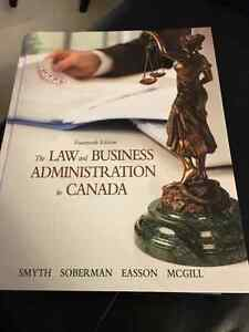 The Law and Business Administration in Canada 14th Edition