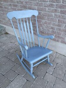 Wood Rocking Chair - Light Grey Kingston Kingston Area image 1