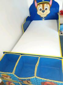Paw patrol toddler bed & mattress.