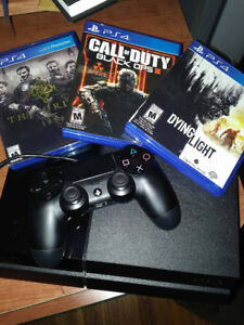 500 GB PS4, Games, and Charger Stand $300