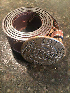GF Ferre Brown Leather Belt Size 100 -100% Authentic