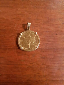 RARE COIN--1983 1/4 oz .999 Gold Maple with Gold Pendant Loop Edmonton Edmonton Area image 1