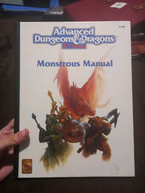 Advanced Dungeons & Dragons 2nd Edition Monstrous Manual