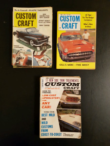 Vintage Custom Craft Mini Car Magazines from 1960:s