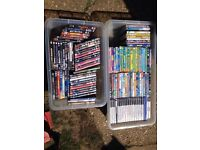 Job lot of DVDs and ps2 games