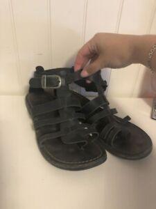 Sandales Kickers 8 femme (cuire noir)